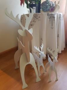 Christmas Wood Cutouts - Reindeer